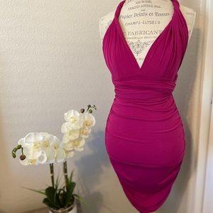 Moda/Victoria Secret Multi-way ruched mini dress.
